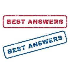 Best Answers Rubber Stamps vector