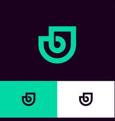 Bj logo green monogram original symbol vector
