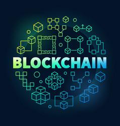 Blockchain colorful block vector