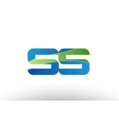 Blue green ss s s alphabet letter logo vector