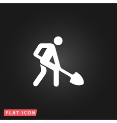 building site flat icon vector image