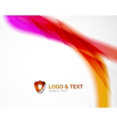 Business wave purple and orange vector