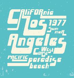 california - los angeles vintage tshirt stamp vector image