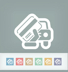 car document icon vector image