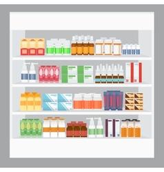Cartoon medicine in pharmacy vector