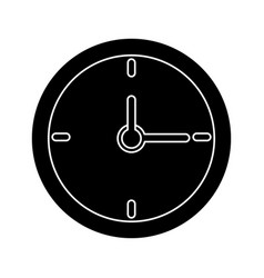 Clock time school pictogram vector