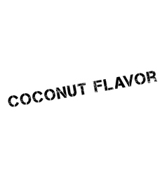 Coconut flavor rubber stamp vector