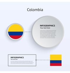 Colombia Country Set of Banners vector
