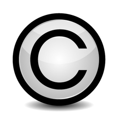Copyright button - icon vector image