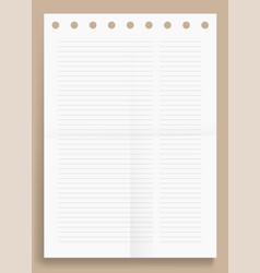 Crumpled standart two lined column blank series vector