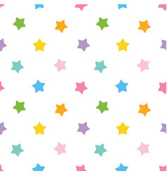 Cute colorful stars seamless pattern background vector