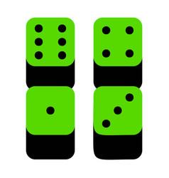 devils bones ivories sign green 3d icon vector image