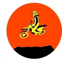 Dirt biker jump vector