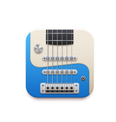 Electric guitar music app interface icon vector