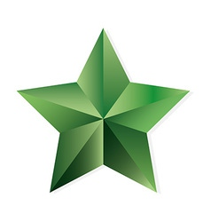 Emerald star isolated object vector