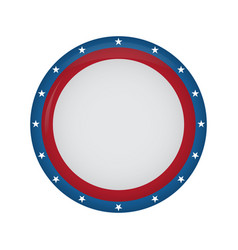 empty american campaign button vector image