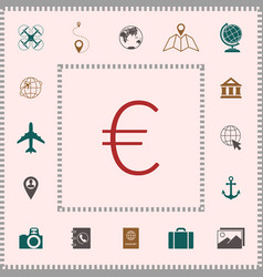 euro symbol icon elements for your design vector image