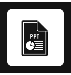 File PPT icon simple style vector