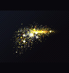 fire sparks metal welding or cutting flares vector image