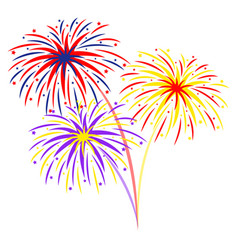 fireworks on white background vector image