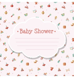 Flat design cute baby shower template vector