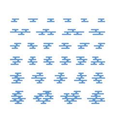 flat smoke and cloud symbols vector image