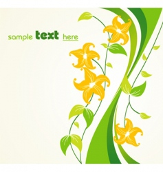 floral border vector image