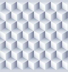 geometric abstract background 3d cubes pattern vector image