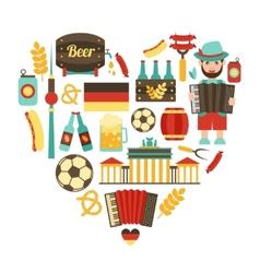 Germany travel heart set vector
