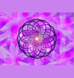 gold seed life symbol sacred geometry logo icon vector image