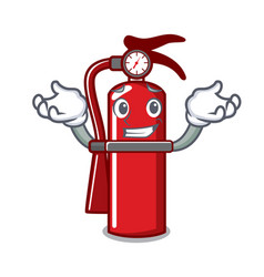 Grinning fire extinguisher character cartoon vector