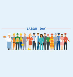 group people labor worker vector image