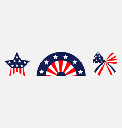 happy independence day ribbon bow star shape vector image