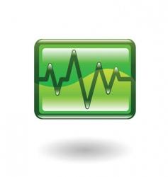 heart beat illustration vector image vector image