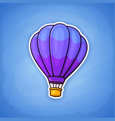 hot air balloon on sky background vector image