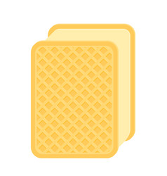 Ice-cream waffle sandwich isolated vector