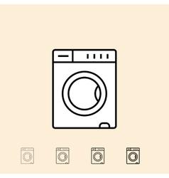 icon of Washing machine vector image