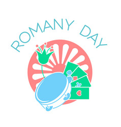 Icon on the romany day vector