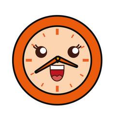 kawaii clock icon vector image