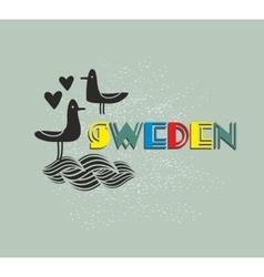 Label of Sweden vector