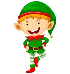 Little elf with happy face vector image
