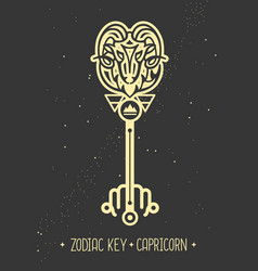 Magic card with astrology capricorn zodiac sign vector