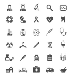 Medical icons on white Tablets medicines pills vector image