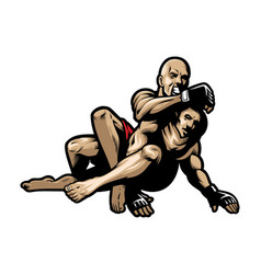Mma fighting vector