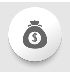 Money icon with bag vector image