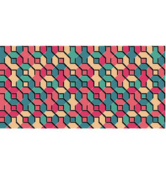 multicolor flat tile geometrical background vector image