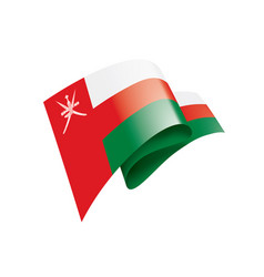oman flag on a white vector image