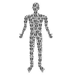 Open box human figure vector