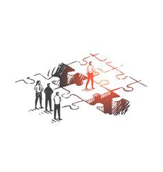 Personal development job promotion leadership vector