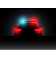 Police car in the dark with the included vector